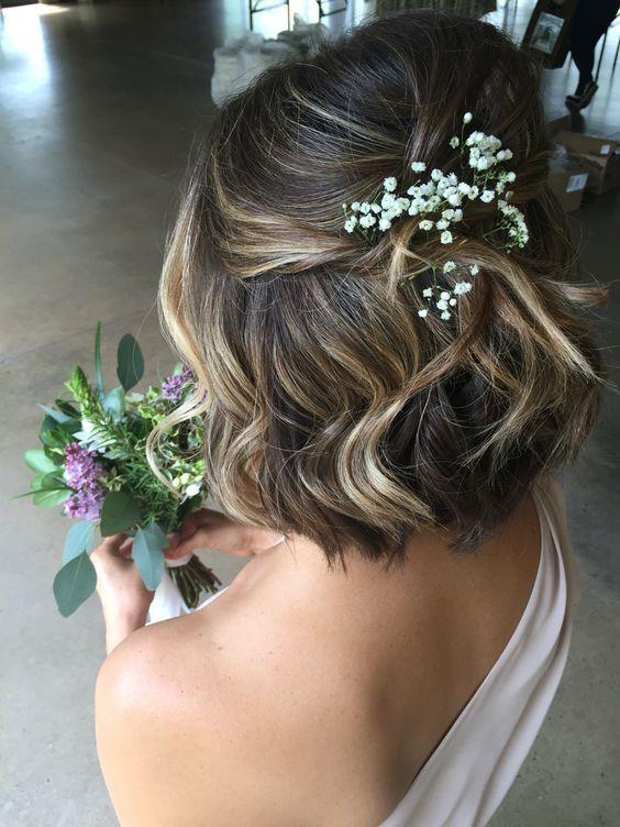 bröllopsfrisyr kort hår